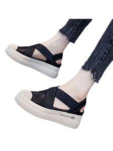 Damen Fashion Loafers Hollow Lace Stoffschuhe Einfarbige Schuhe Round Toe Atmungsaktive Einzelschuhe,Farbe: Schwarz,Größe:37