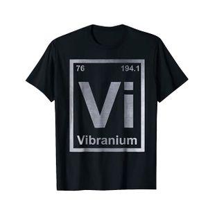 Marvel Unisex Comics Vibranium Design T-Shirt CI510 (S) (Schwarz)