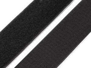 Klettband selbstklebend 50 mm - schwarz