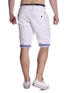 Herren Chino Shorts Bermuda Hose Walkshort, Farben:Weiß, Größe Shorts:30W