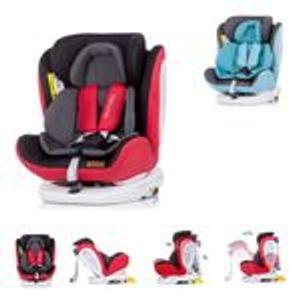 Chipolino Kindersitz Tourneo Gruppe 0+/1/2/3  (0 - 36 kg), Isofix, 360° drehbar, Farbe:rot-schwarz