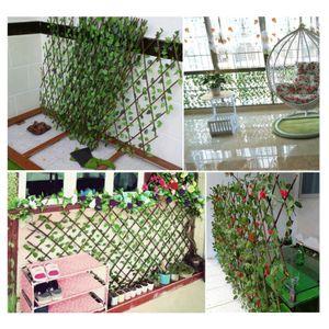 Imitation Zaun Blatt gefaelschte Pflanze Efeu Zaun Hofzaun Dekoration Erweiterungstyp Zaun
