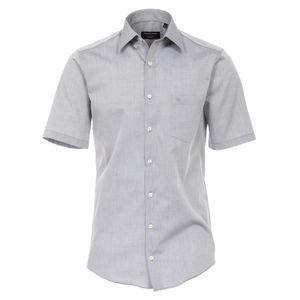 Größe 42 Casamoda Hemd Grau Uni Kurzarm Comfort Fit Normal Geschnitten Kentkragen 100% Baumwolle Bügelfrei