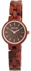 Holz Uhr rotbraun Damenuhr 1800194-001 Gliederarmband