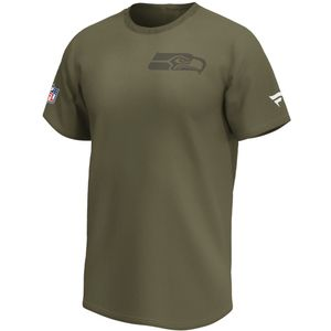 NFL T-Shirt Seattle Seahawks Logo Schild Iconic Back and Front olive Logo Football L