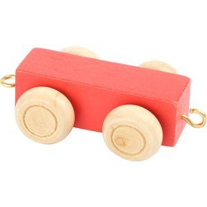 Small Foot Design 10350 'Buchstabenzug bunt' Holz Anhänger, rot (1 Stück)