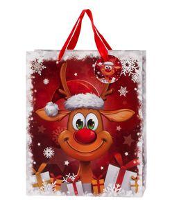 12 Stück Geschenktüte Weihnachten Lustiges Rentier 26 x 32 x 12 cm