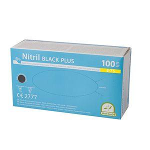 1000 Nitril Handschuhe, puderfrei  Black Plus  schwarz Größe S