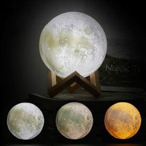 LED Mond Lampe 3D Standleuchten Nachtlicht Nachttischlampe Touch Lampe für Wohnzimmer