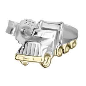 Einzel LKW Truck 925 Sterlingsilber Ohrstecker Bicolor 9*7mm Ohrring männer 4848