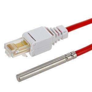 H-Tronic Edelstahl Temperaturfühler TS 7 (DS18B20), geeignet für TS(M)125 und TS2125