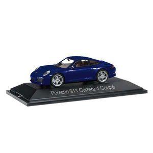 Herpa 071093 Porsche 911 Carrera 4 Coupé dunkelblau metallic 1:43