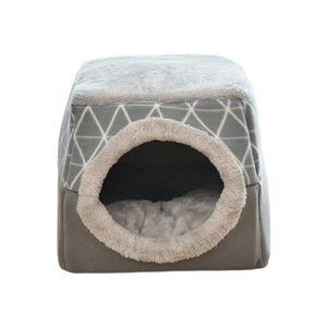 2 in 1 Soft Cat Pet House Bett Zwinger Welpenhöhle Warm Nest Mat Pad Modern Katzenhöhle Wie beschrieben Grau L.
