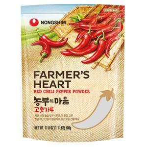 500g Nong Shim Chili Pulver Farmer´s Heart Mittel Scharf Red Pepper Kimchi Pulver  Chilli Powder für Kim Chi