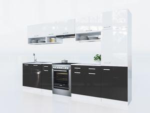 KÜCHE Lux 320+ Cm Schwarz KÜCHENZEILE Küchenblock Einbauküche Komplettküche