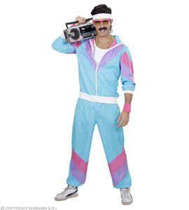 Proll 80 er Jahre Trainingsanzug - Jogginganzug - Blau - Männer Kostüm XL - 54/56