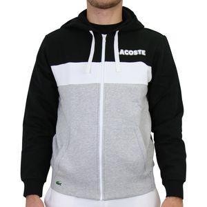 Lacoste Sport Sweatshirt Herren Schwarz/Weiß/Grau (SH1506 DGX) Größe: L