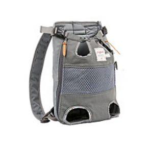 Hunderucksack - Haustierrucksack mit nach vorne gerichteten Beinen, geeignet für kleine und mittlere Hunde, Freisprech-Reisetasche für Katzen, zugelassen von Fluggesellschaften und Motorradfahrern. Wandern - (grau)