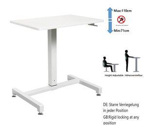 Schreibtisch, höhenverstellbar sitz-steh-schreibtisch ohne Elektronik,Arbeitsstation,Monitorständer,Computertische,Konferenztische,Laptoptisch, YULUKIA 100001