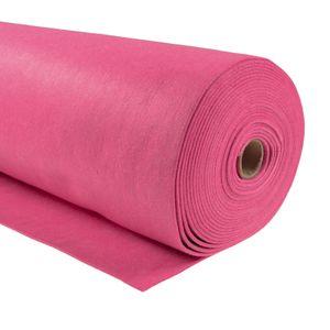 Bastelfilz 1m Meterware Filz 90cm x 1,5mm Dekofilz Taschenfilz Filzstoff 39 Farben, Farbe:pink