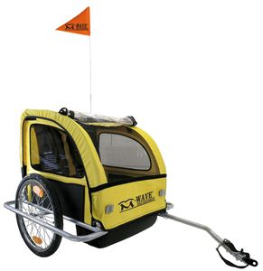 M-WAVE Fahrrad Kinderanhänger CARRY ALL S, gelb/schwarz