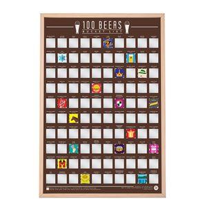 Rubbelkarte Beer Bucket List, Scratch Map, Rubbel Poster, Bucket-List Bier, Bier Geschenk, Biere der Welt, Bierkalender