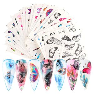 60x Schmetterling Nagelsticker Nagelaufkleber für DIY Kunstnägel, Acrylnägel