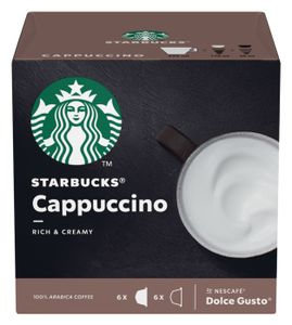 Starbucks by Nescafe Dolce Gusto 12 Kapseln Cappuccino Rich and Creamy Arabica Coffee 120g