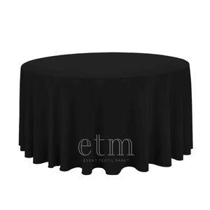 Tischdecke RUND ø260cm schwarz Tischtuch Tischüberzug Catering Bankett Hochzeit