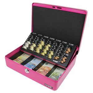 HMF 10015-15 Geldkassette Euro-Münzzählbrett, Geldzählkassette, 30 x 24 x 9 cm, pink
