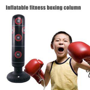 Boxsack Standboxsack Aufblasbar Stehend für Fitness Krafttraining für Erwachsene Kinder Jugenbdliche