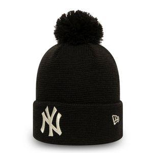 New Era Damen Wintermütze Bommel Beanie - NY Yankees schwarz