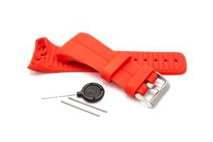 vhbw TPE Ersatz Armband kompatibel mit Polar M400, M430 Fitnessuhr, Smartwatch - 9.0cm + 12.2 cm rot