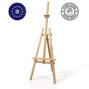 Staffelei Holz groß Kinder - Leinwand Ständer DREIBEIN mal stativ für Maler aus Buchenholz 180 cm höhenverstellbar