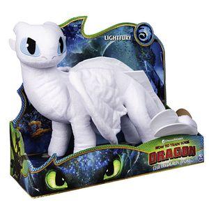 Tagschatten Drache   DreamWorks Dragons   36 cm Deluxe Plüsch Figur   Lightfury