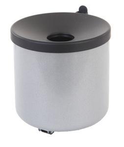 Feuerlöschender Wand-Aschenbecher - Aluminium, Schwarz