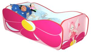 Kinderbett Flower inkl. Rollrost + Matratze 70*140 cm rosa pink Mädchen Prinzessin Jugendbett Bettliege Einzelbett Kinder- und Jugendzimmer