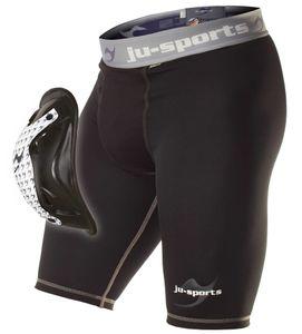 Ju-Sports Compression Base Shorts mit Motion Pro Flexcup Tiefschutz Schwarz - Herren, Größe:M