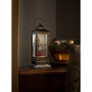 Konstsmide LED Schneelaterne Charles Dickens Style, mit 5h Timer