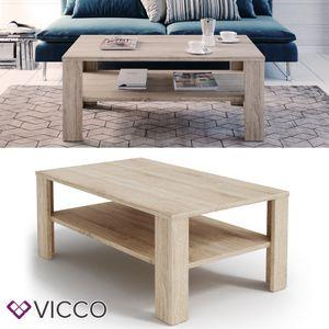 Vicco Couchtisch Sonoma Eiche  60x100 cm Wohnzimmertisch Beistelltisch Kaffetisch Holztisch