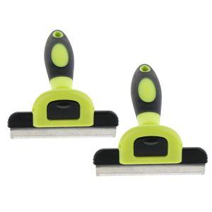 2 Stück Hundebürste Katzenbürste Unterwollbürste Unterfellbürste Tierfell Fellpflege Werkzeug