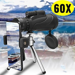 40X60 BAK4 Okular Fernrohr Teleskop Monokular Fernglas mit Handy Adapter Stativ, Wasserdicht