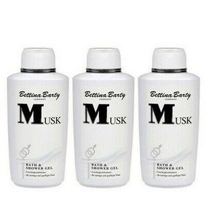 Bettina Barty Musk Bath & Shower Gel Duschgel 3 x 500 ml