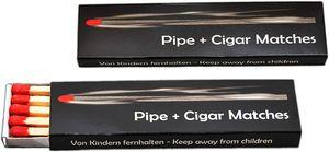 2 X Luxus Zigarren Streichhölzer 20 Stück Black Pack 10CM Hölzer/Rote Zündköpfe