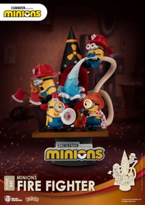 Beast Kingdom Toys Minions Fire Fighter D-Stage PVC Diorama Statue 15 cm BKDDS-049