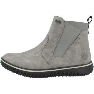 Rieker Damen Chelsea Boots Warmfutter Stiefeletten Z4294, Größe:39 EU, Farbe:Grau