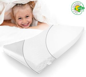 ALCUBE Kindermatratze 160x80 cm für Kinderbett mit Spannbettlaken I Babymatratzen 80x160 cm I Matratze für Kleinkinder I Babymatratze Kaltschaummatratze