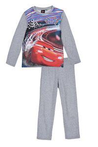 Disney Cars Kinder Schlafanzug mit Lightning McQueen Motiv, 2-teilig, grau, Größe:128