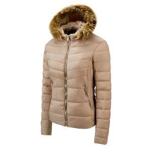Ladies Fashion Kapuzenjacke mit Reißverschluss aus Baumwolle New Style Slim Jacket mit großem Kragen Größe:S,Farbe:Ocker