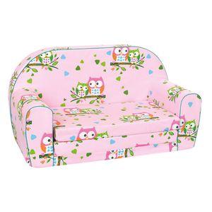 mini-Sofa Junior 77,7 x 35,5 x 42,5 cm Holz/Baumwolle rosa